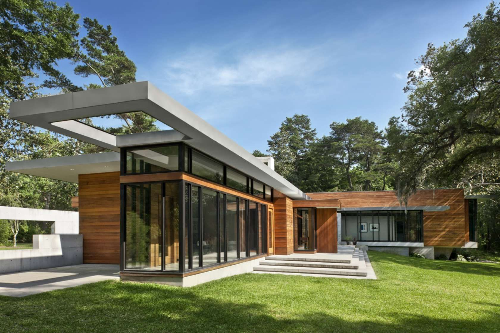 Modern Architectural Forms the project is a single-family house that explores the