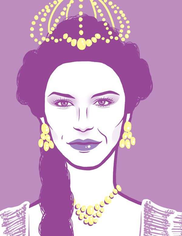 Queens Portraits by Melody Shi, via Behance