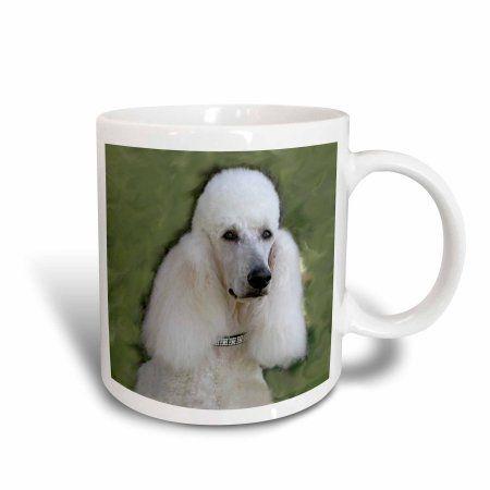 3dRose Standard Poodle, Ceramic Mug, 15-ounce
