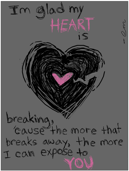 Stylish DP's And Covers For FaceBook Broken Heart Quotes