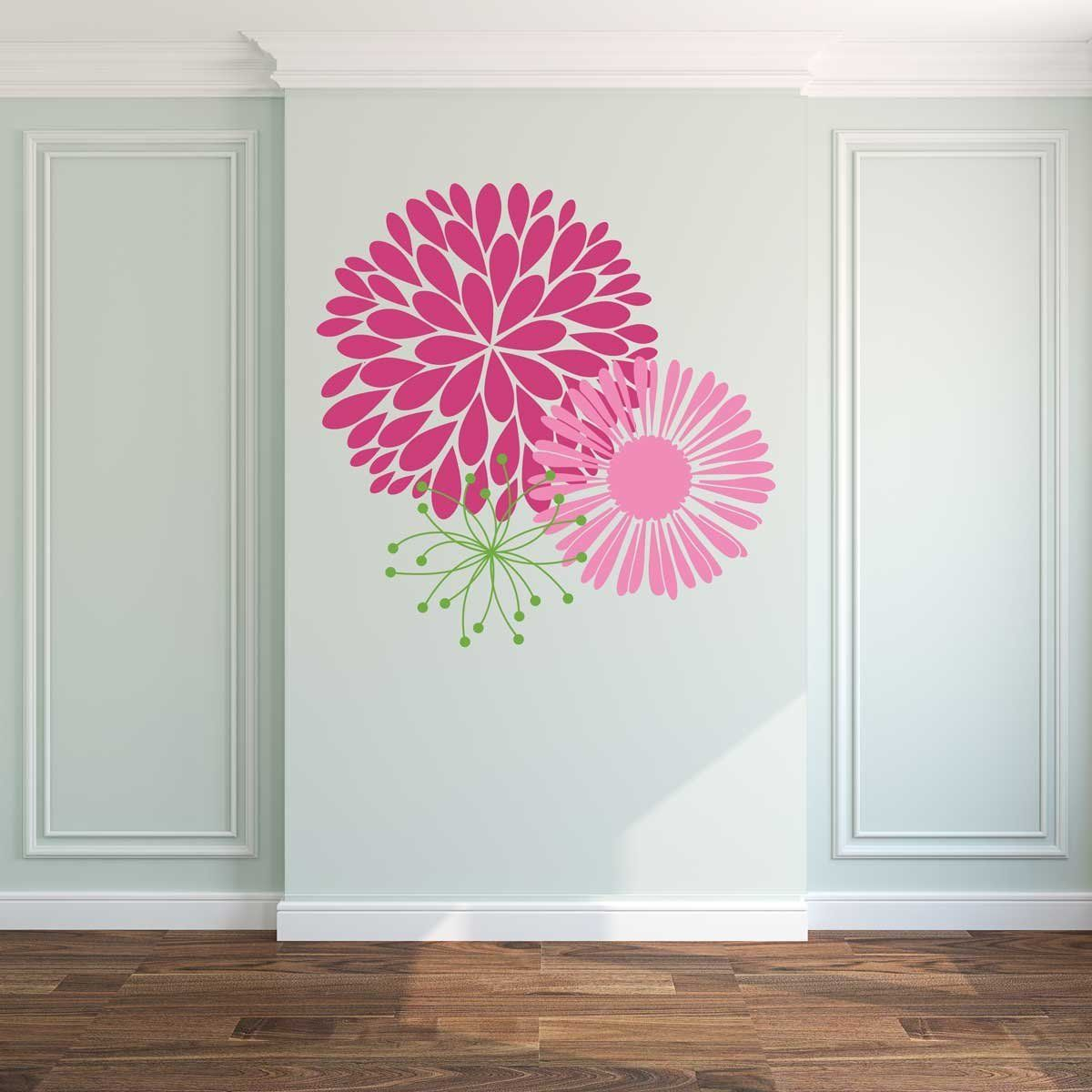 Large flower wall stickers set of 3 wb005 guild product large flower wall stickers set of 3 wb005 amipublicfo Gallery