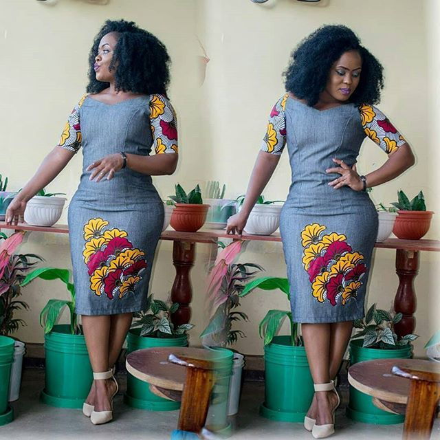 4143c50e46 Ankara and Jean Combo   Lovely and Cute Styles Ladies are Rocking  Now...Ankara and Jean Combo   Lovely and Cute Styles Ladies are Rocking Now