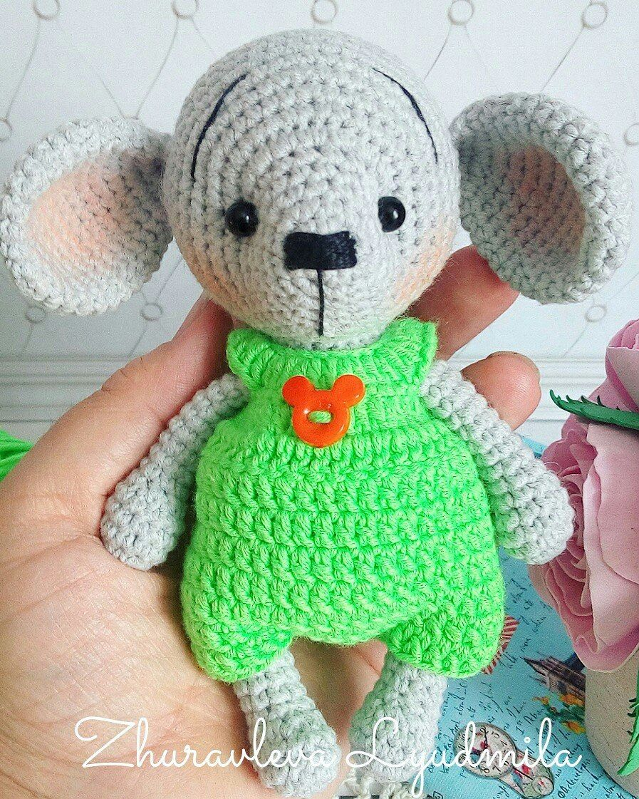 Amigurumi,amigurumi free pattern,amigurumi mouse,amigurumi little ...