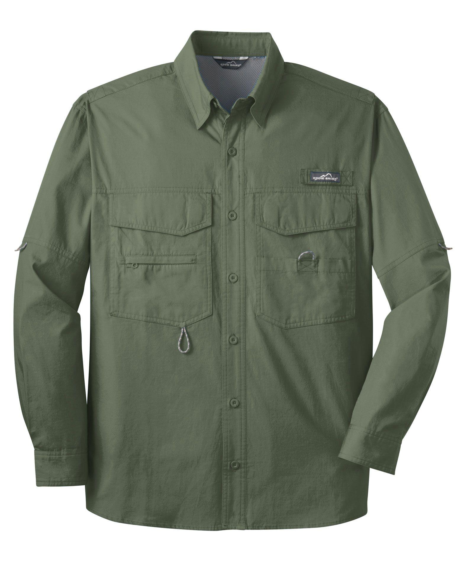 Eddie Bauer Long Sleeve Fishing Shirt Customize As Low As 4999