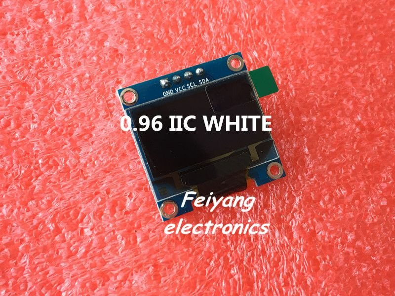 "5 unids 0.96 ""blanco 0.96 pulgadas OLED módulo Nuevo 128X64 LED LCD OLED Módulo de Visualización Para Arduino 0.96"" IIC I2C Comunicarse"