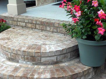 rounded brick front porch steps farmhouse spaces nashville front porch ideas and - Patio Steps Ideas