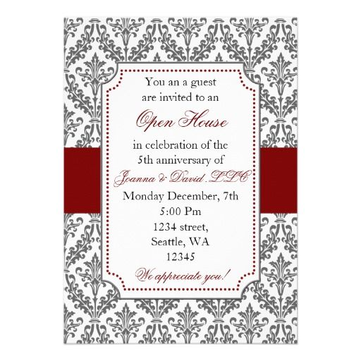 Elegant Corporate party Invitation Open House Invitation Wording - office party invitation templates