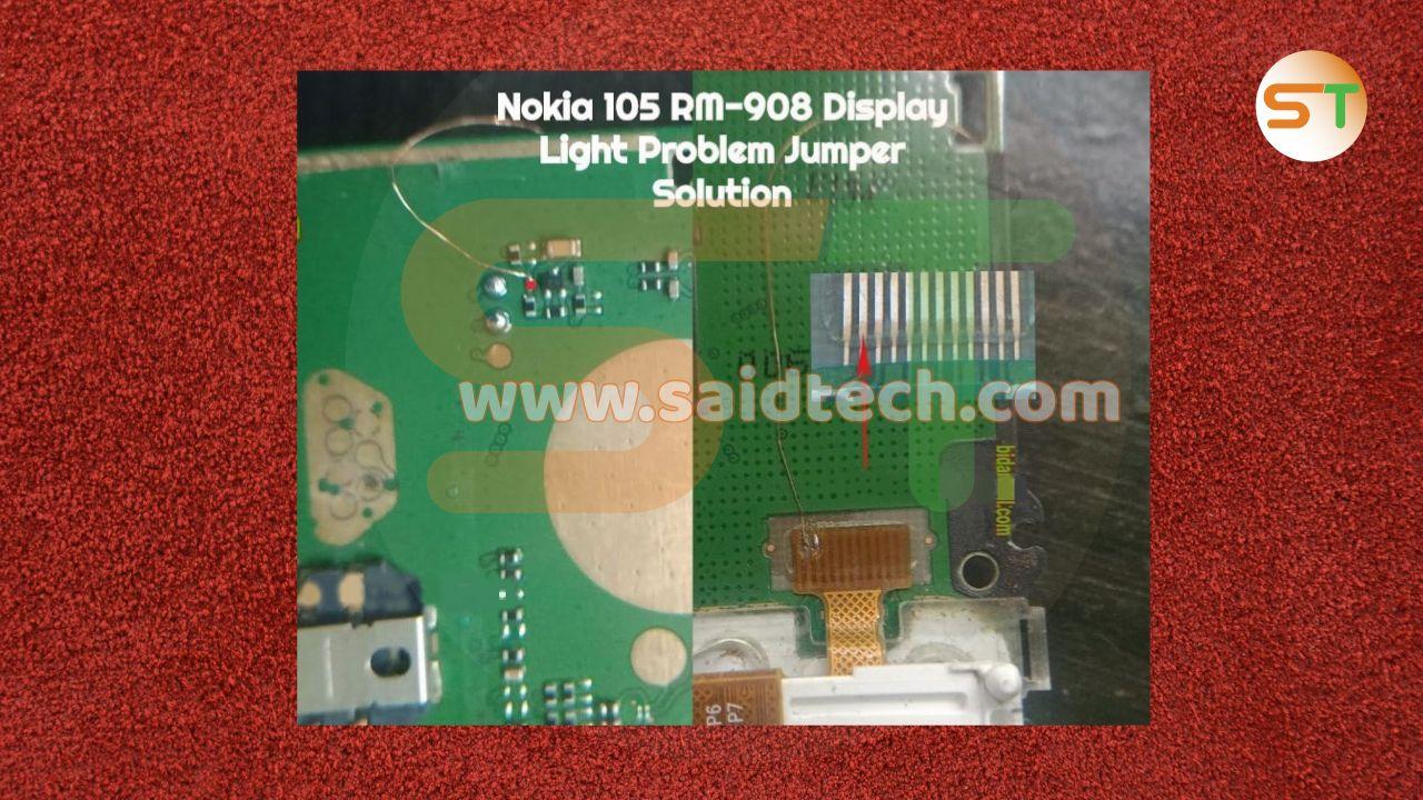 مسارات الشاشة نوكنا Nokia 105 Rm 908 Light Display Light Nokia