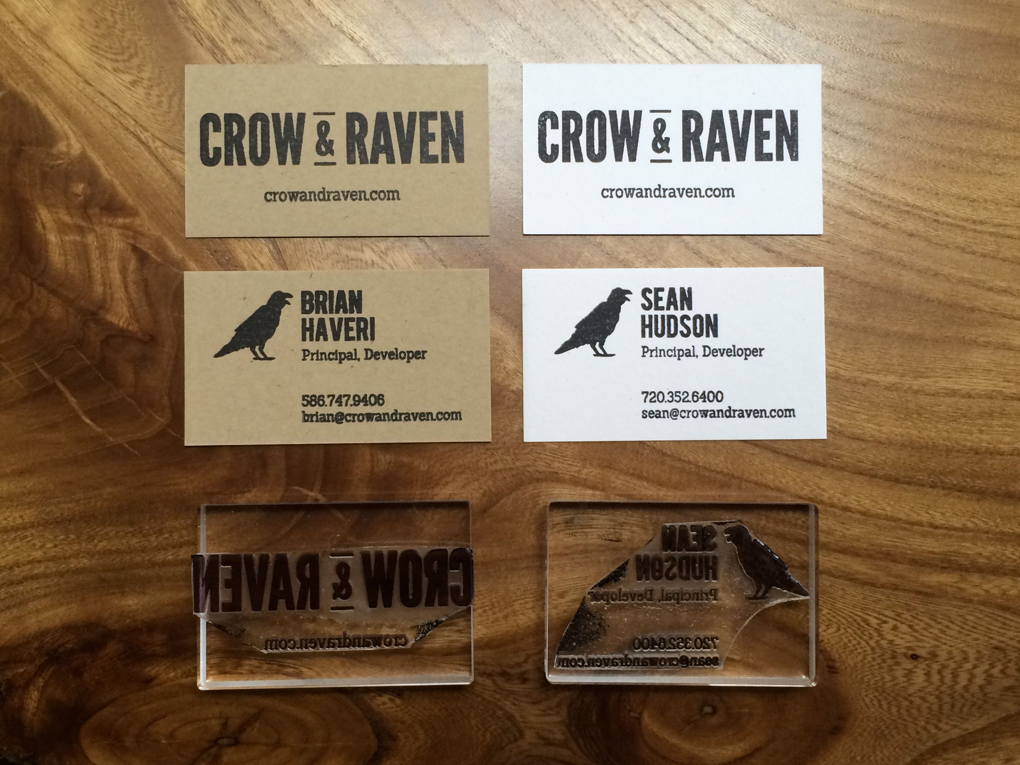 Spice up traditional business cards with stamps.   C&R Business ...