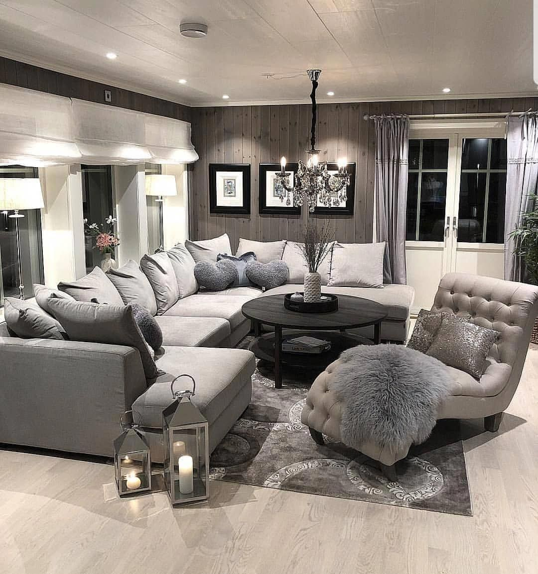 Natural living room with burlap and spa accents Home