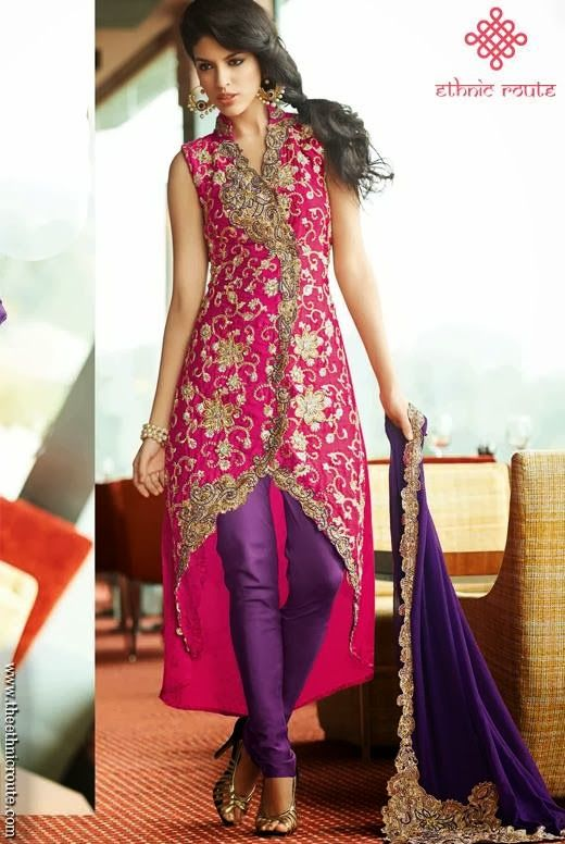 Indian Party Wear Dresses 2013-14 For Girl | 60th bday | Pinterest ...