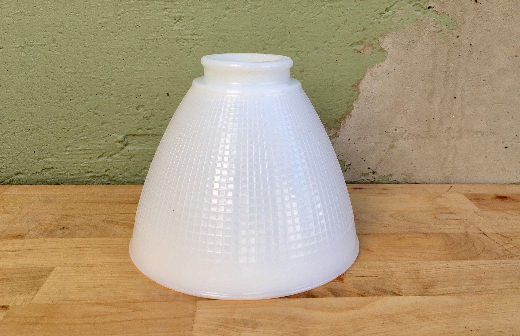 Vintage Milk Glass Mid Century Replacement Globe Retro Style Lighting Waffle Weave Floor Table Lamp Diffuser Refl Floor Table Lamps Vintage Lighting Milk Glass