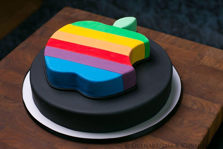 Apple Logo cake Cake shapes, Cake, Iphone cake