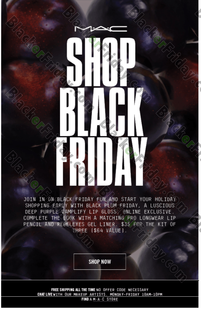 MAC Cosmetics Black Friday 2017 Sale & Deals | Blacker