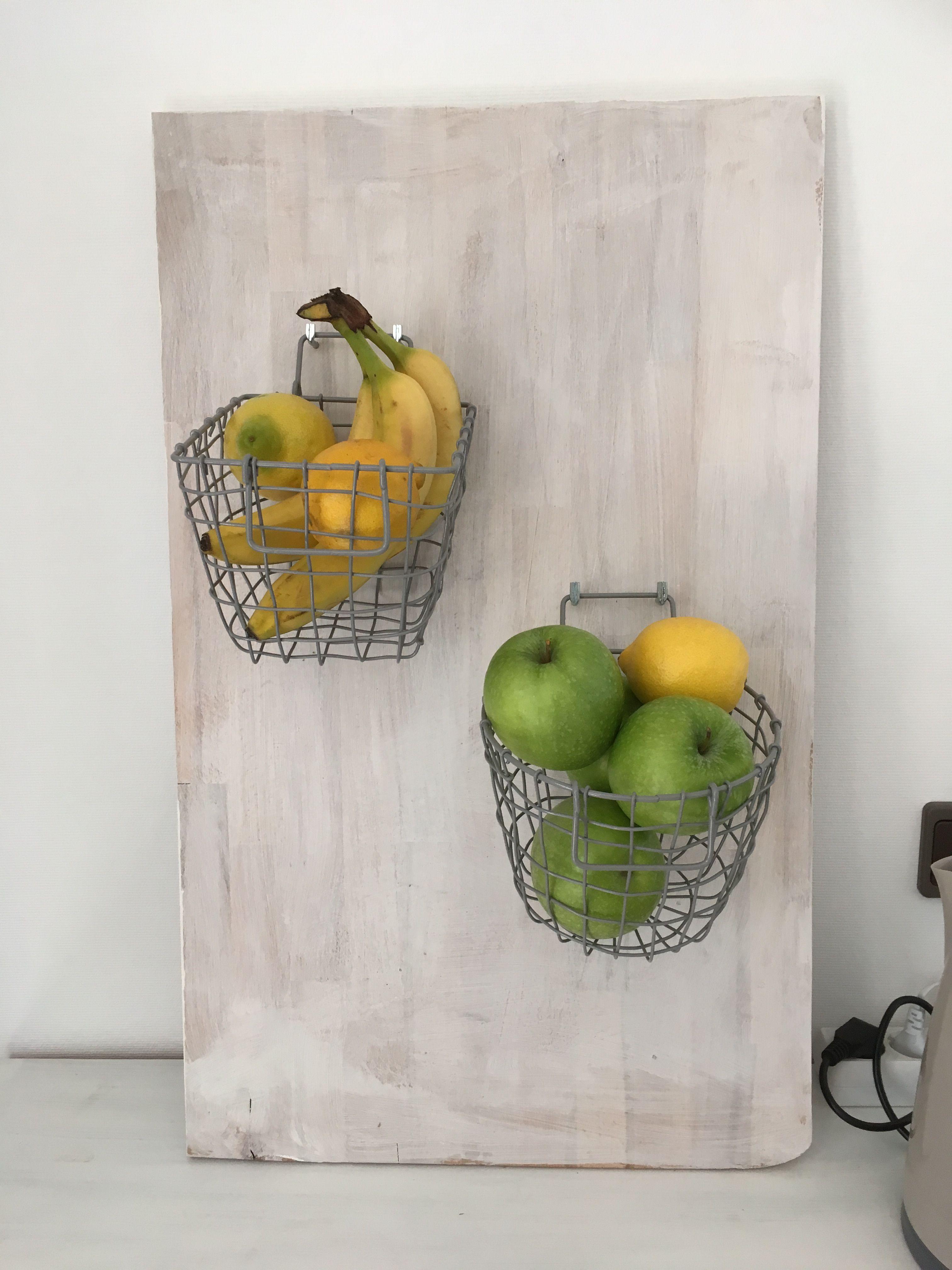 Holzbrett als Gemüse / Obst Aufbewahrung umfunktioniert ...