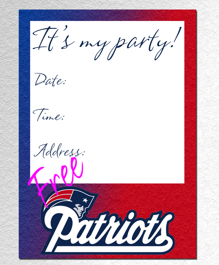 New England Patriots Invitation