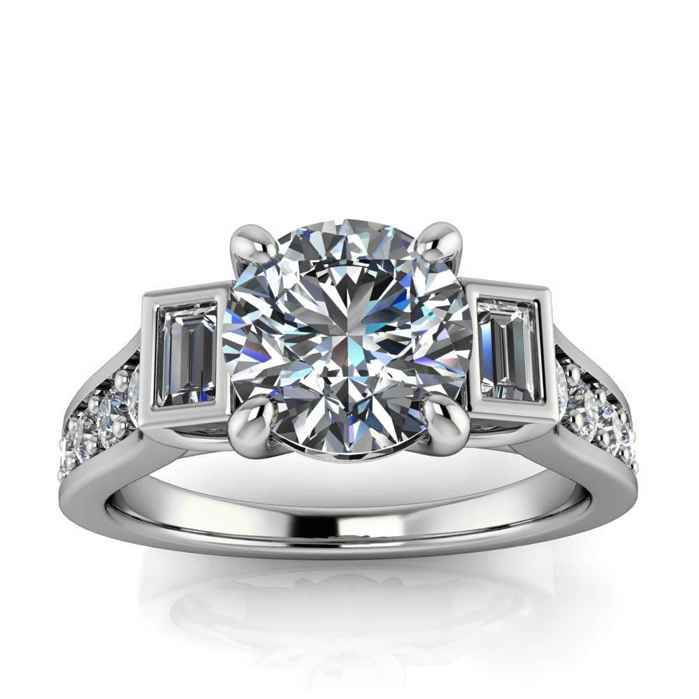 Modern Engagement Ring Amsterdam Round Modern engagement rings