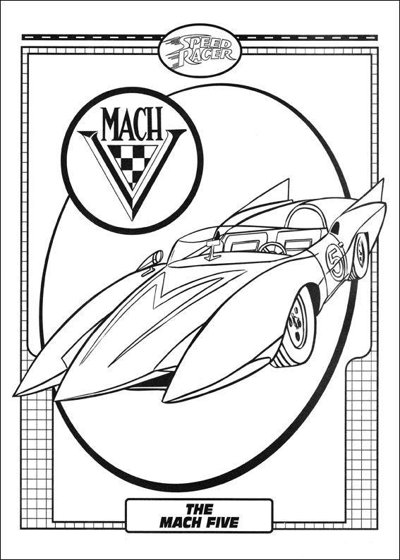 Dibujos para Colorear Speed Racer 4 | Papeis de parede | Pinterest ...
