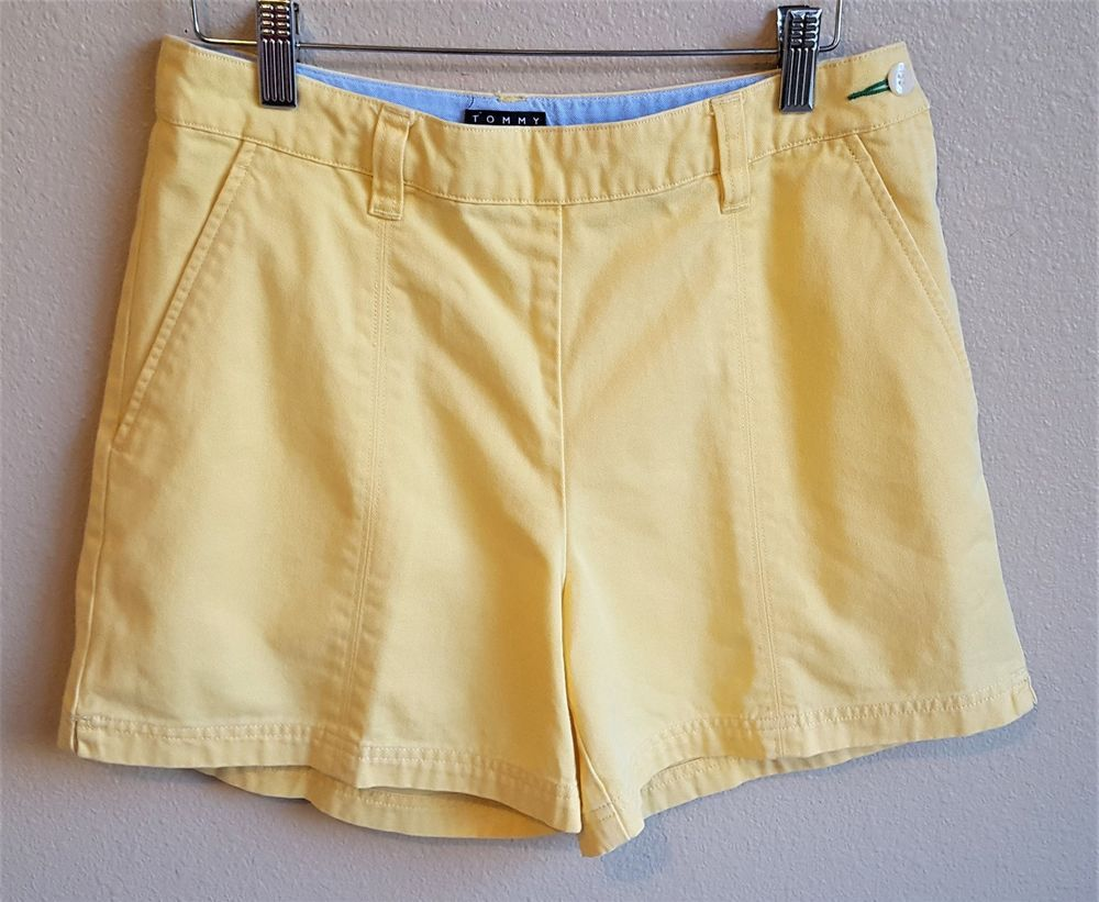 Vintage s tommy hilfiger yellow shorts high waist size