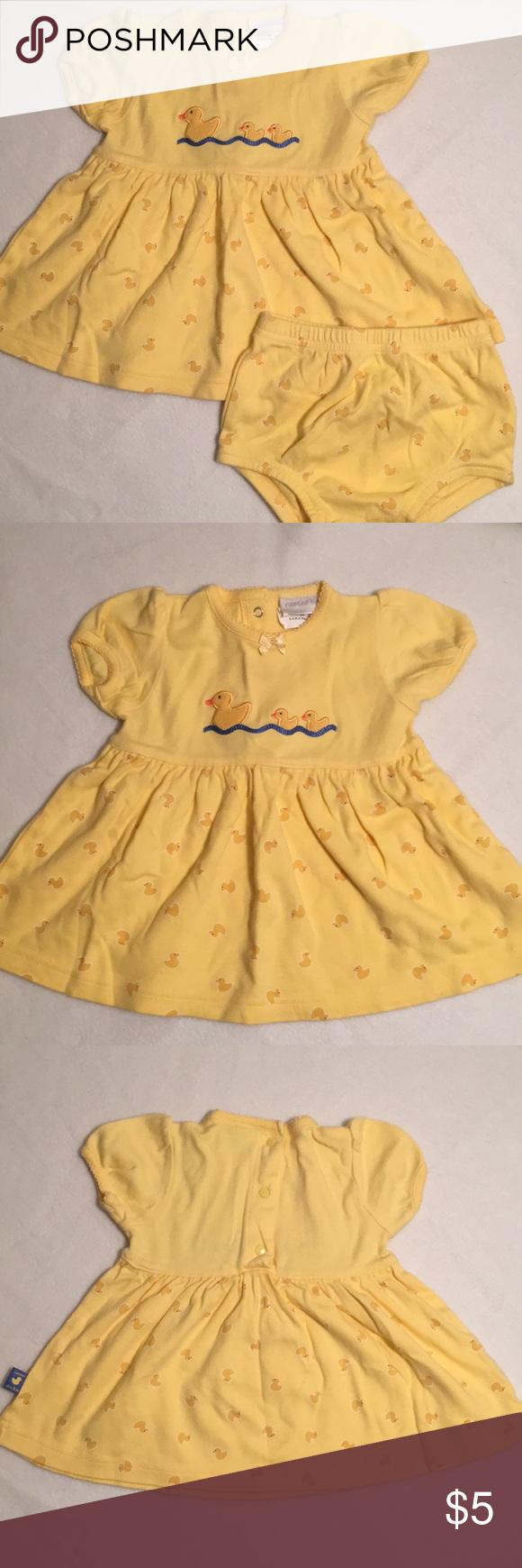 Yellow dress 3-6 months  Carterus  piece infant Duckie Set Carterus  Piece Duckie Set size