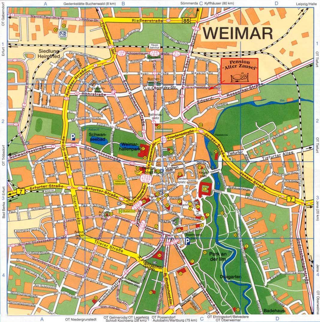 Bildergebnis Fur Weimar Karte Sehenswurdigkeiten City Photo Photo Aerial