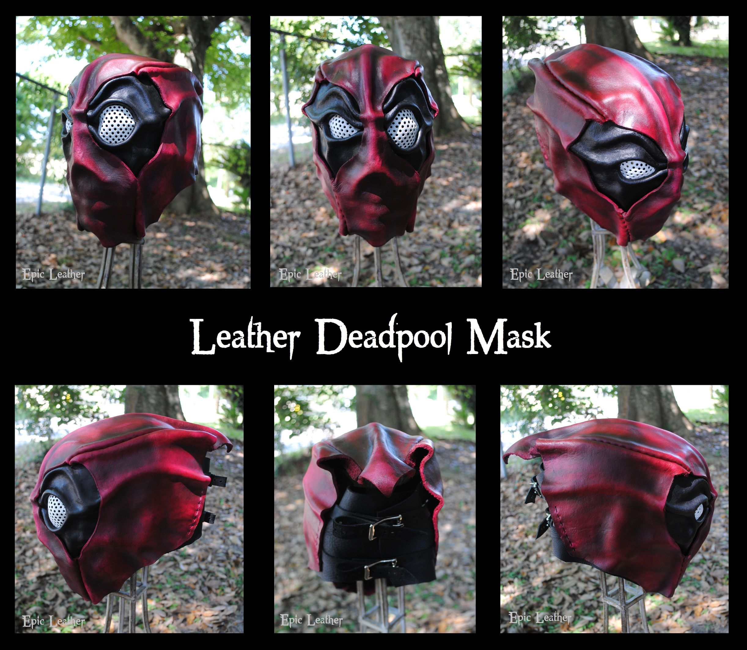 Full Leather Deadpool Mask by