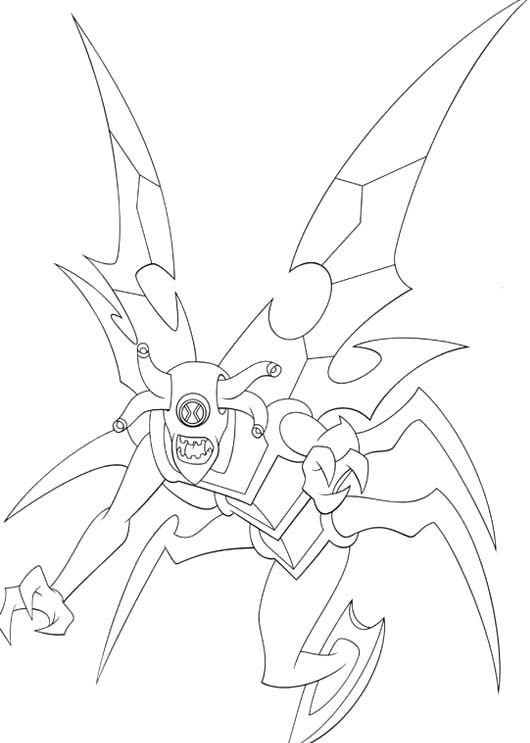 Ben 10 Transform Into Beings Spooky Coloring Pages