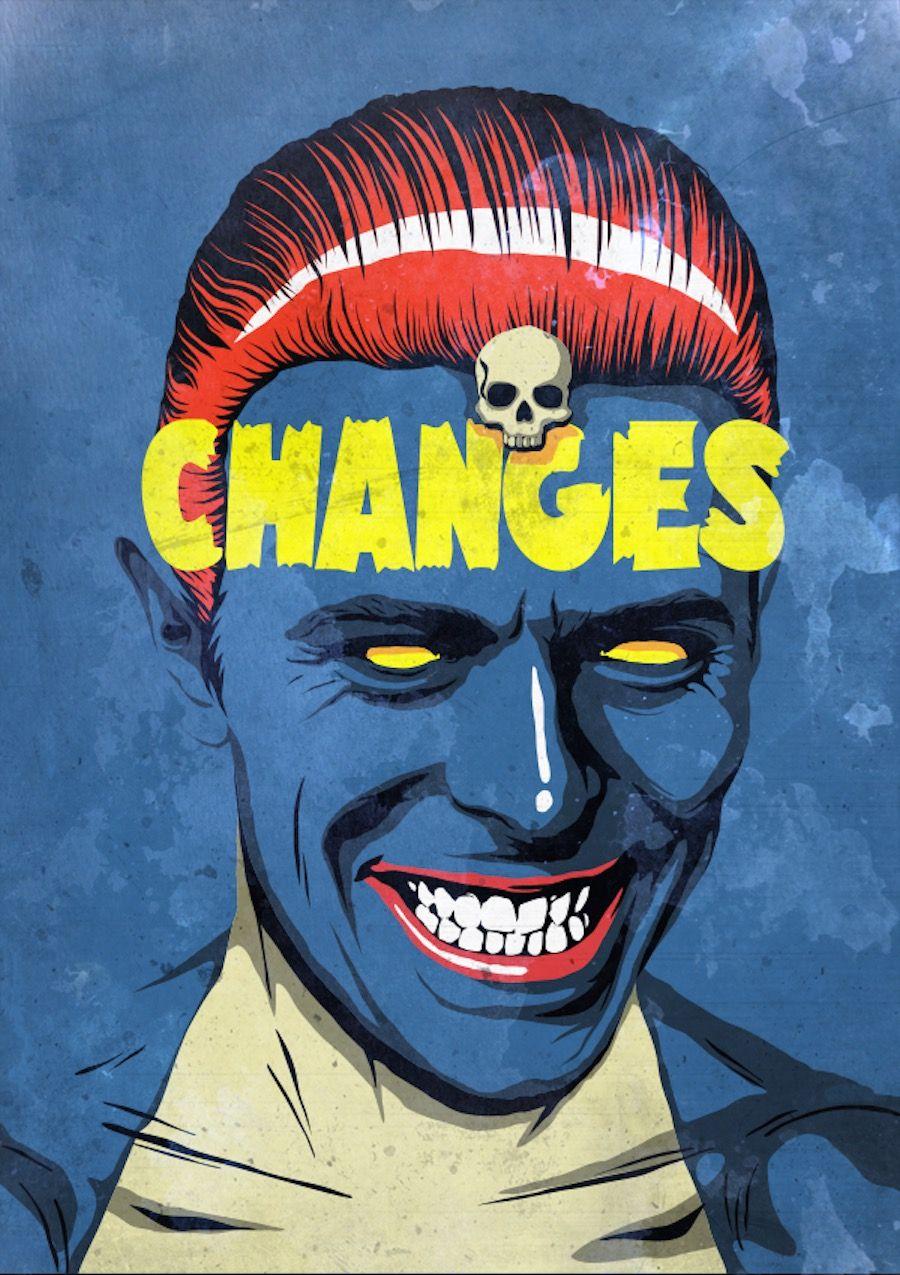 David Bowie Pop Culture Posters Ilustraciones Art Pop Diseno