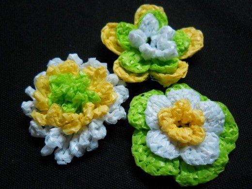 3d 3 Layer Crochet Flowers Crochet Flowers Pinterest Crochet