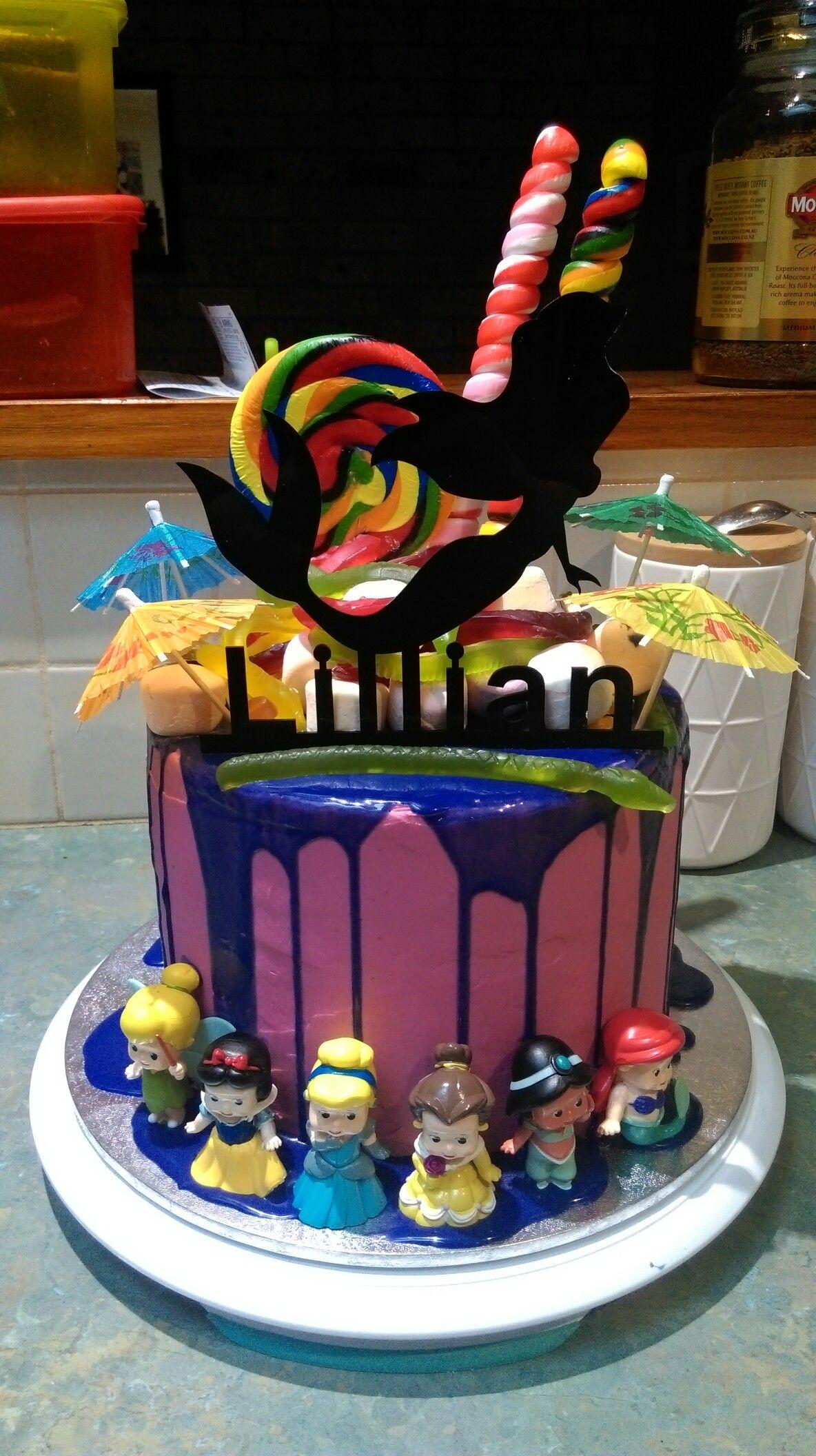 Lillian 5th birthday candy princess cake princess cake