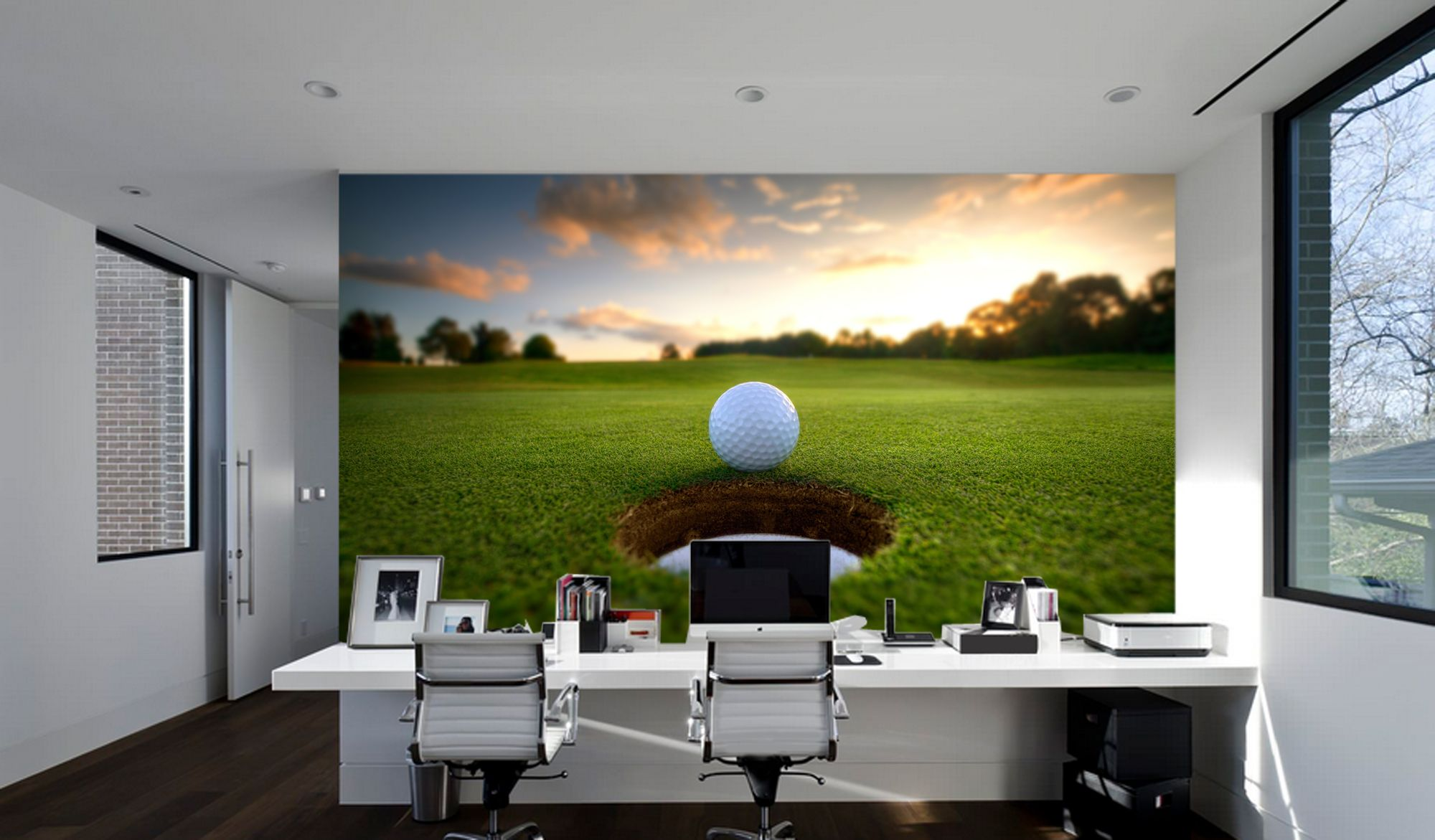 Hole in one full wall mural wall stickers golf wall st