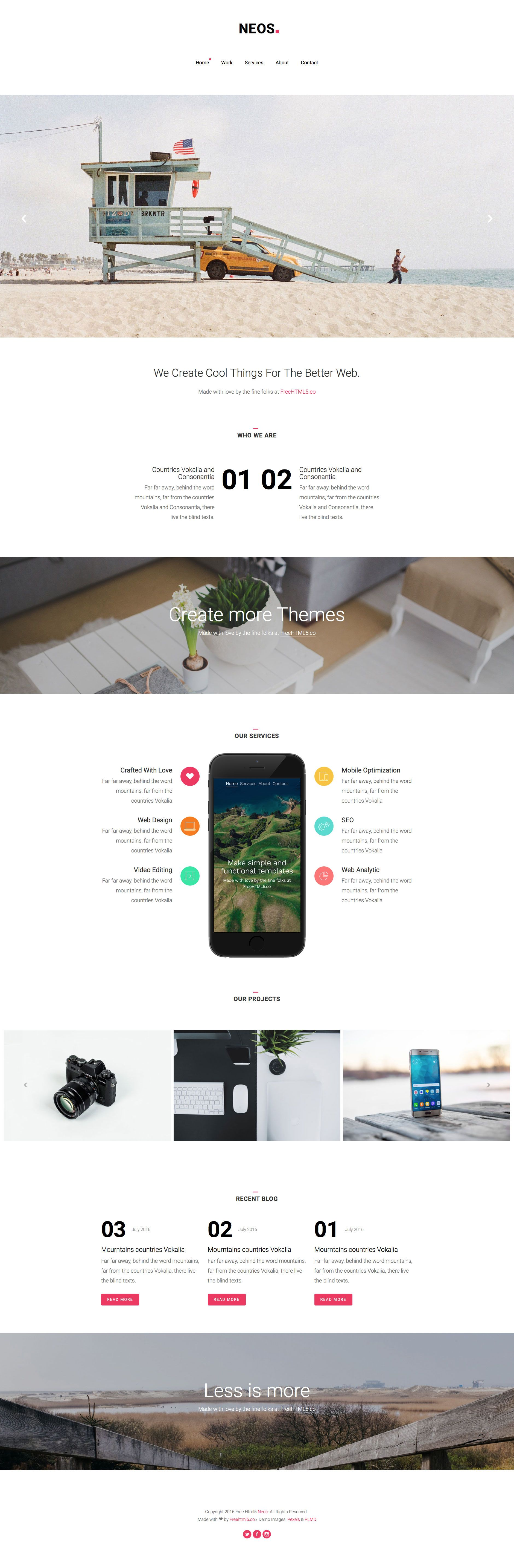 Neos is a free responsive html5 business website template based on neos is a free responsive html5 business website template based on bootstrap 3 cheaphphosting Gallery