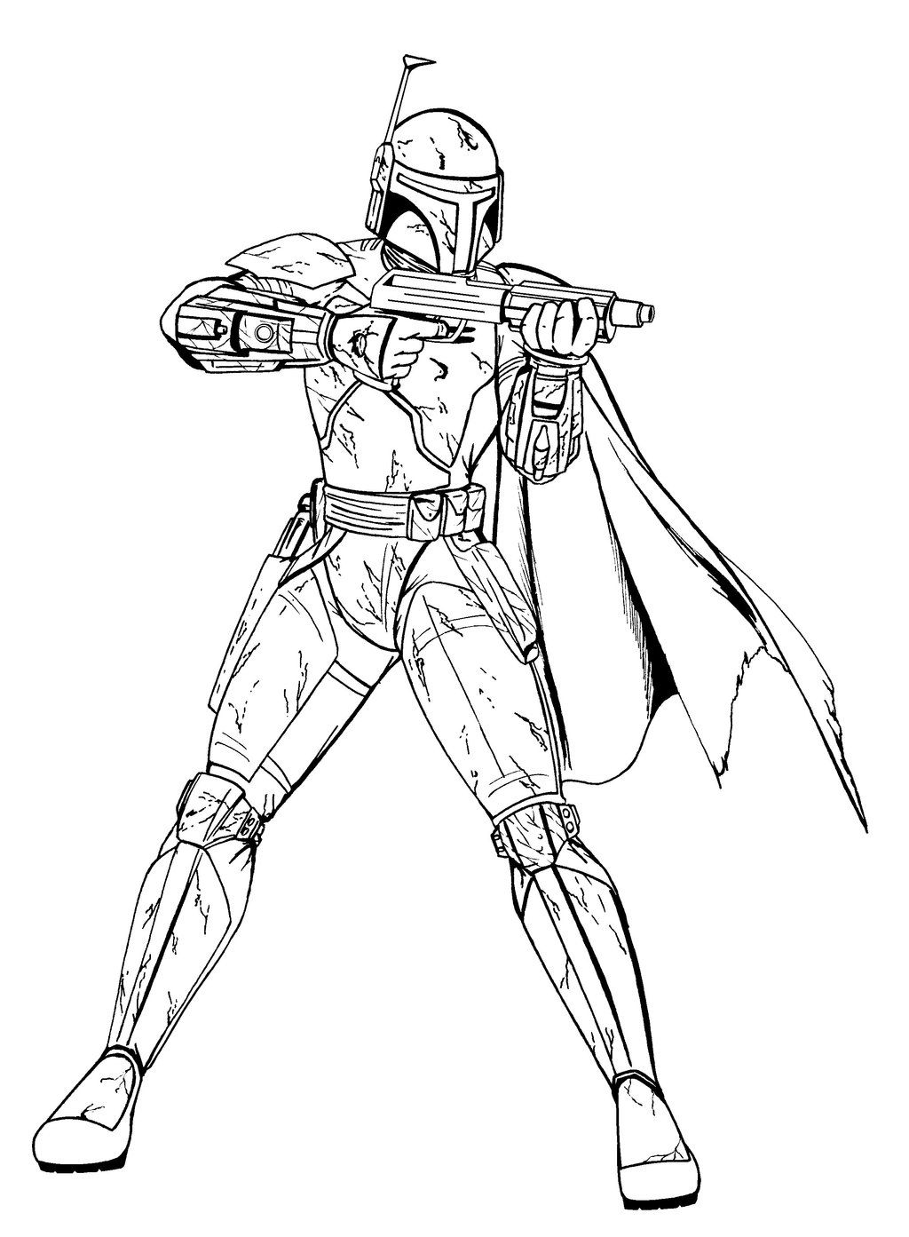 Bobba Fett Coloring Page Star wars coloring book