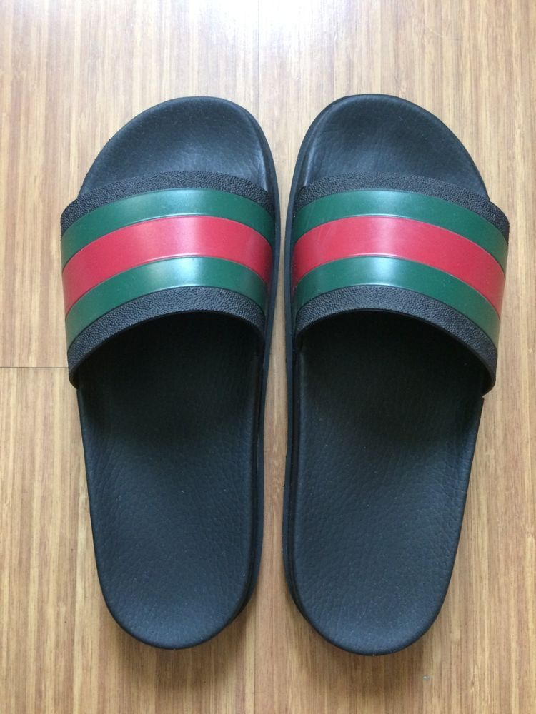 a0c65dde595 GUCCI AUTHENTIC Mens Slides Sandals - Size 9  fashion  clothing  shoes   accessories