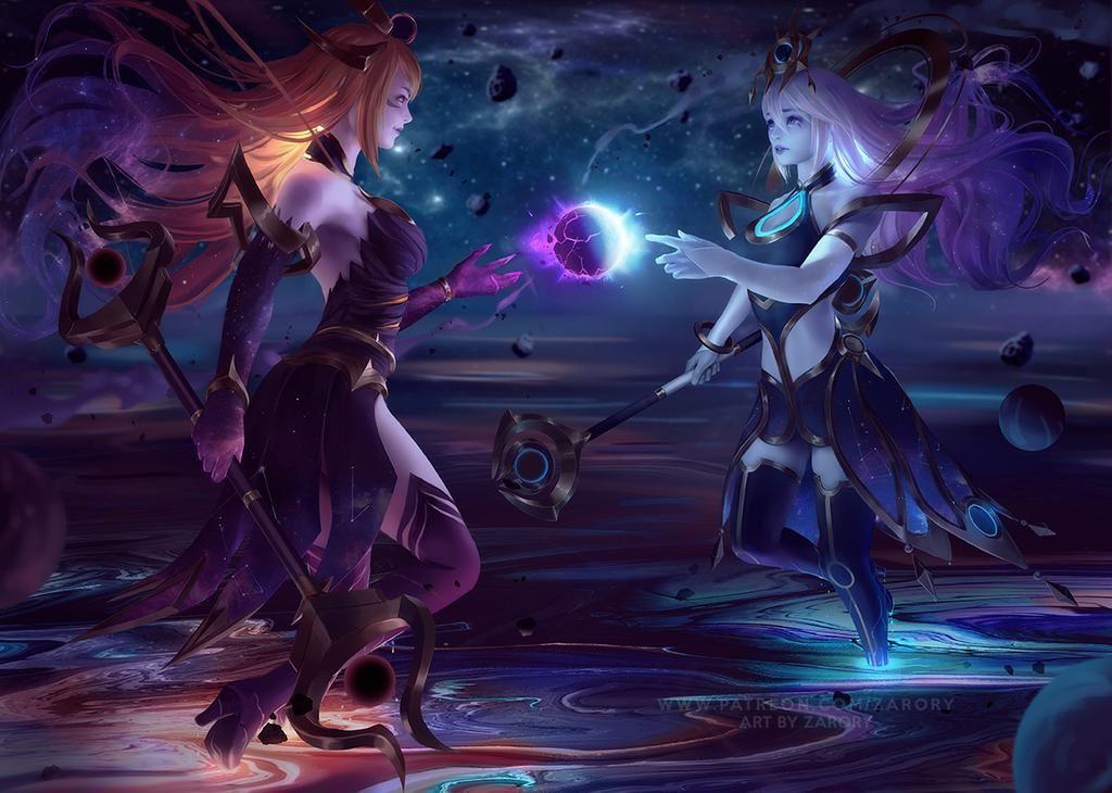 Dark Cosmic And Cosmic Lux By Https Www Deviantart Com Zarory On Deviantart In 2020 Lol League Of Legends Champions League Of Legends League Of Legends