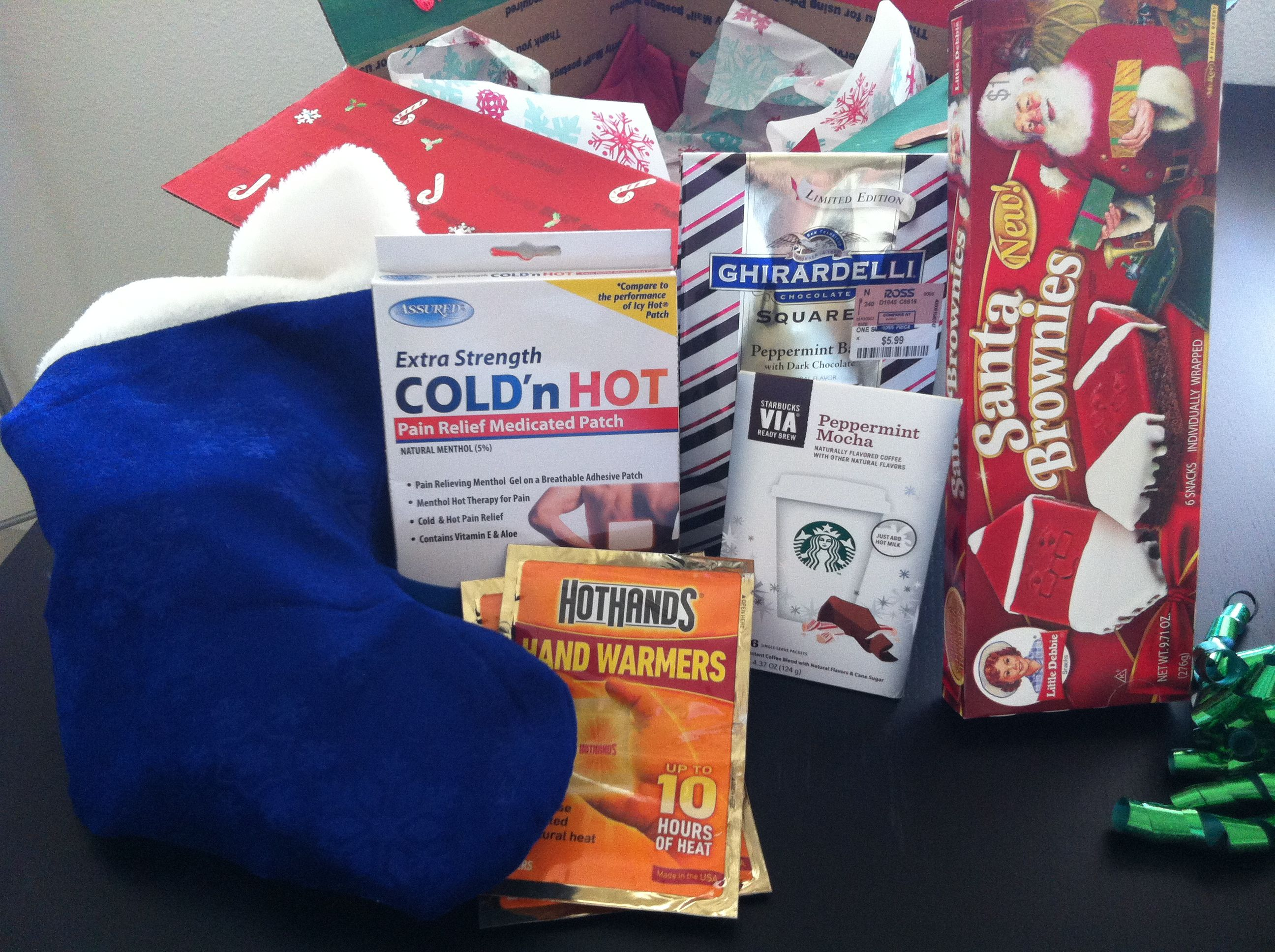 Christmas Care Package Guts Stocking With Stocking