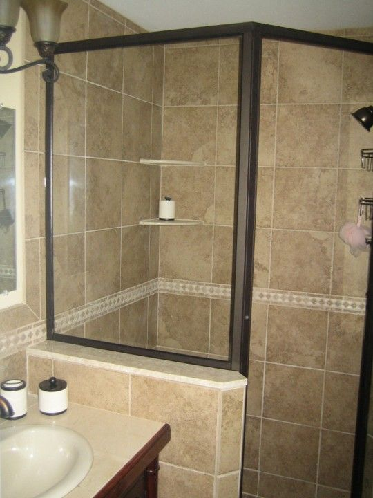 bathroom tile design | custom tile ideas | tub shower tile photos