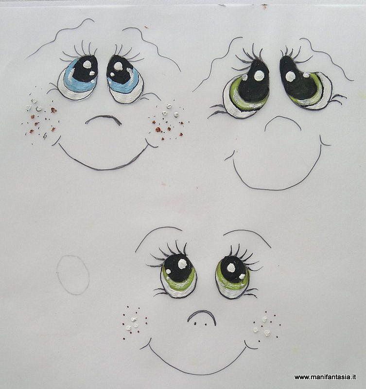 Tutorial come dipingere gli occhi alle bambole e pupazzi for Tutorial fermaporta di stoffa
