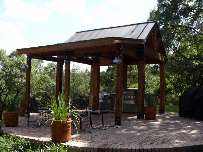 Tin Roof Outdoor Kitchen Design Outdoor Kitchen Pergola