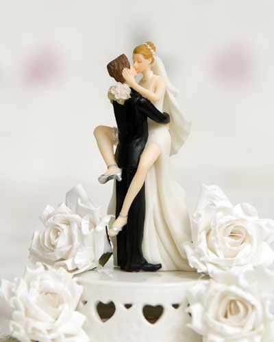 Get Inspired Humor Is Well In Tow With This Funny Over Eager Sexy Bride And Groom Wedding Cake Topper Surely It Will Cause Quite A Stir At Your Wedding