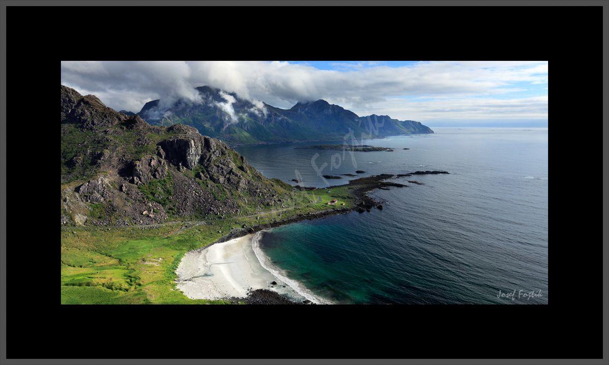 Framed fine art photography - Langøya Island, Vesterålen, Norway. Photo: Josef Fojtik - www.joseffojtik.com - https://www.facebook.com/Fineartphotoprints