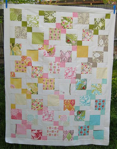 Moda Hunky Dory charm pack quilt using disappearing 9 patch quilt ... : charm pack quilt patterns free - Adamdwight.com