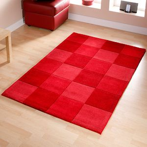 Red Rugs Chenille Gy