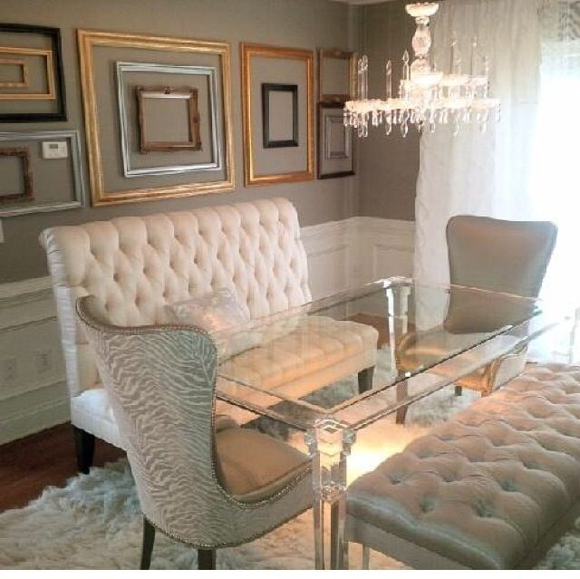 Lavette Jennings  Fun Wow  Pinterest  Room Settees And Dining Captivating Dining Room Table With Settee Inspiration Design