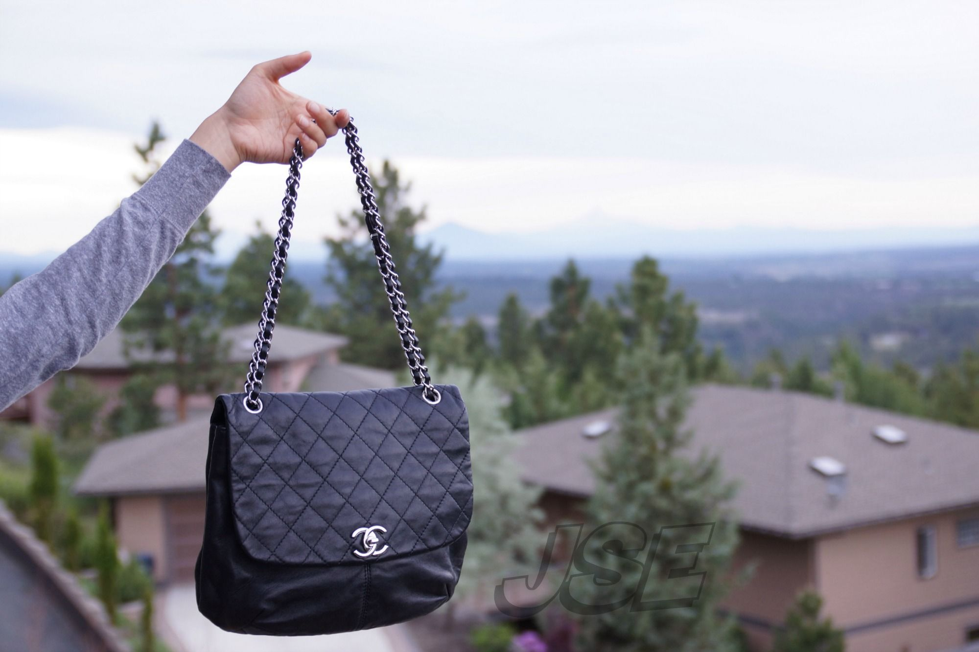 91d79d83a4eb Chanel Bag with Cascade Mountain range in background