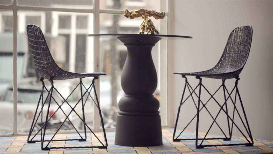 video: pot and wanders' carbon chair bar stool for moooi | stuhl, Attraktive mobel