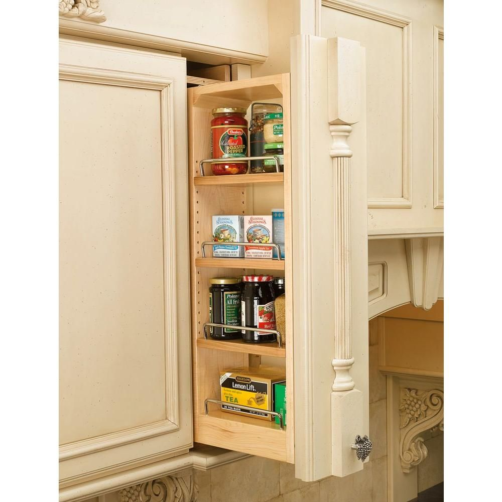 Rev A Shelf 30 In H X 6 In W X 11 13 In D Pull Out Between Cabinet Wall Filler 432 Wf 6c The Home Depot Rev A Shelf Wall Cabinet Shelves