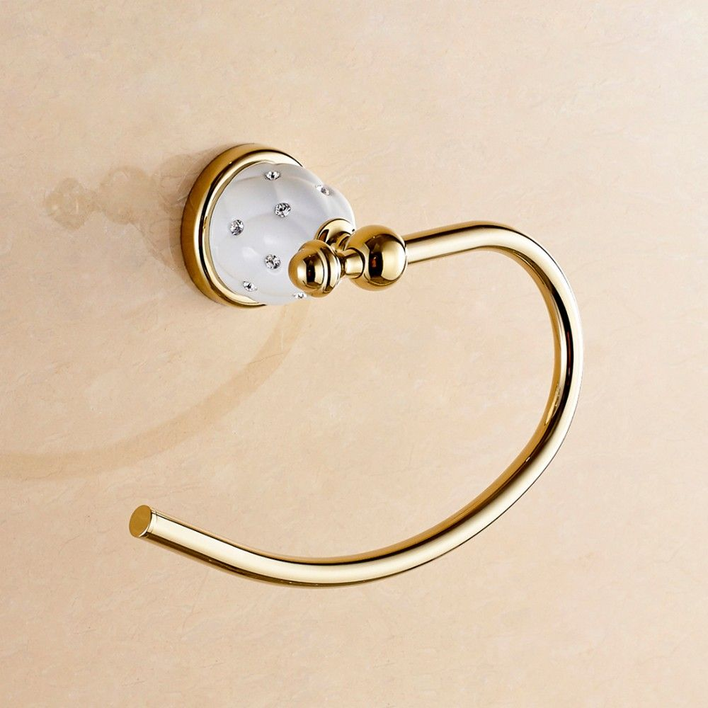 Fapully Ceramic Gold Plated Bathroom Accessories Wall Towel Ring Buy Towel Ring Bathroom Towel Ring With Images Bathroom Accessories Bathroom Towels Towel Ring Bathroom