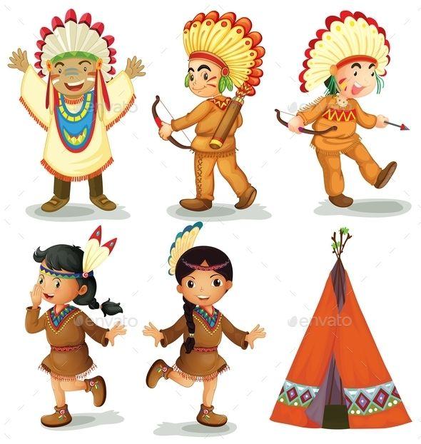 American Indians Native American Drawing Cute Cartoon Drawings Indian Illustration