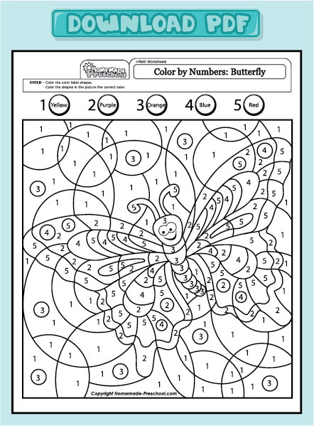 Colour By Number Addition Worksheets - color by numbers and addition worksheets on ...